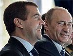 Медведев и Путин будут поддерживать разных кандидатов в президенты Украины / Президент - Януковича, а премьер - Тимошенко