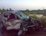 Под Челябинском по вине пьяного водителя  столкнулись «Тойота» и пассажирский автобус (ФОТО)