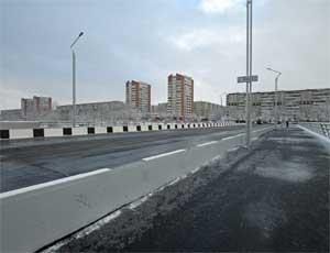 В Челябинске открыли новый мост через реку Миасс