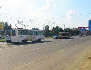 В центре Челябинска перекрыли движение трамваев (ФОТО)