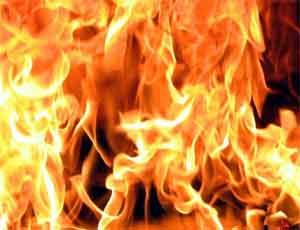 В Челябинске сгорел продуктовый магазин