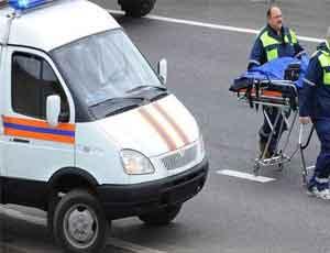 КАМАЗ протаранил пассажирский автобус / Есть пострадавшие