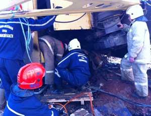На стройплощадке в Копейске рухнул кран / Есть пострадавшие