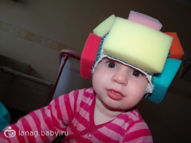 Как сделать шлем для ребенка 893