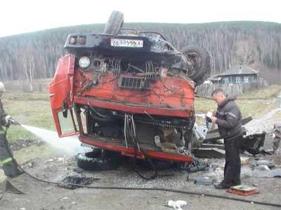 На Южном Урале КАМАЗ столкнулся с автобусом: есть пострадавшие (ФОТО)