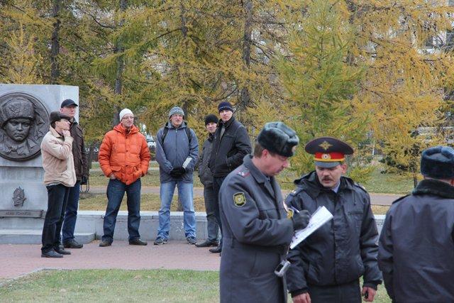 В Челябинске прошел ''Русский марш''