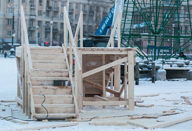 Новый Регион: В Челябинске начали сооружать главный ледовый городк